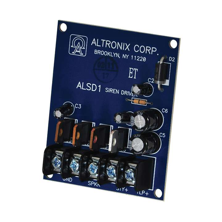 ALSD1 ALTRONIX DUAL CHANNEL SIREN DRIVER 6/12VDC 2 HIGH OUTPUT LOW CURRENT DRAW