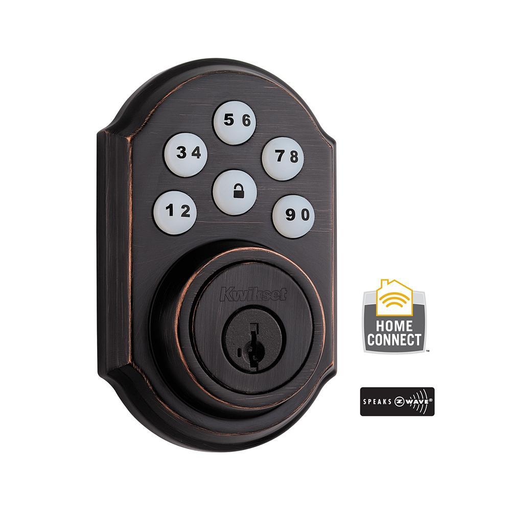 99100-079 Kwikset SmartCode Z-Wave Deadbolt Venetian Bronze