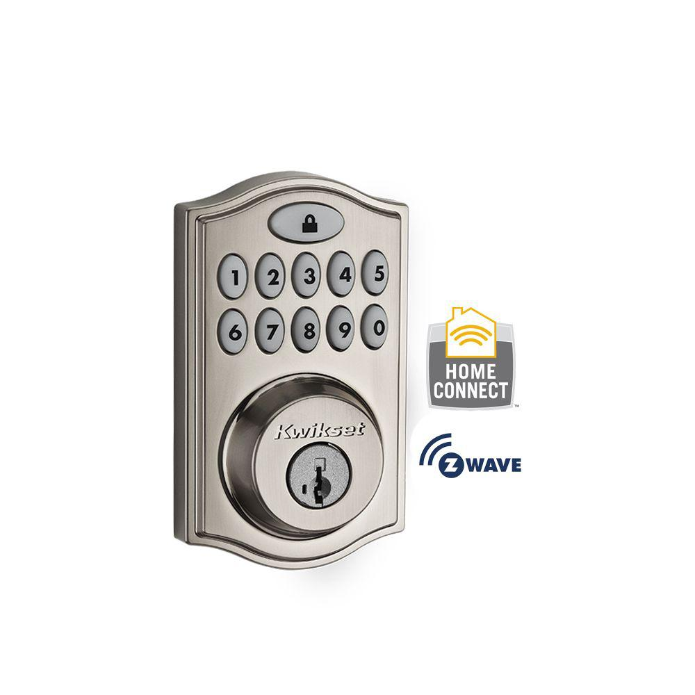 99140-023 KWIKSET SmartCode Z-Wave 914 Deadbolt Satin Nickel