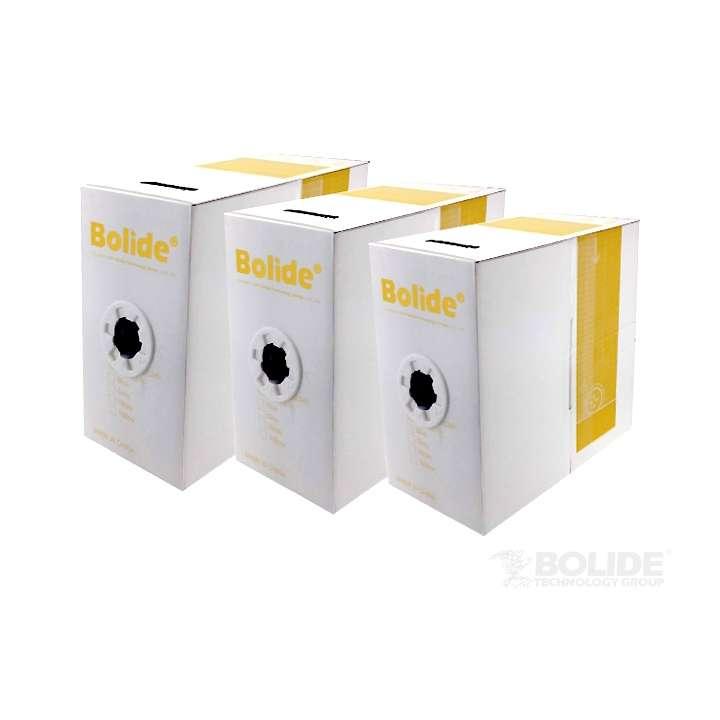 BP0033/CAT5E/CMR-WHITE BOLIDE 1000FT CMR 350Mhz Solid Copper Cat5E Riser Cable, White
