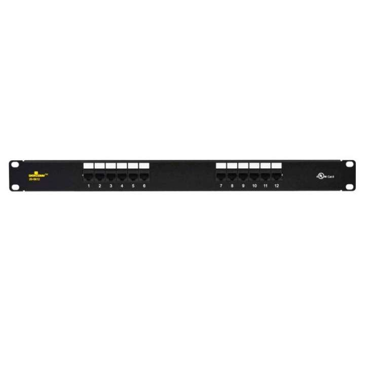 20-5512 DATACOMM CAT 5E UNIVERSAL 12 PORT PATCH PANEL ************************* SPECIAL ORDER ITEM NO RETURNS OR SUBJECT TO RESTOCK FEE *************************
