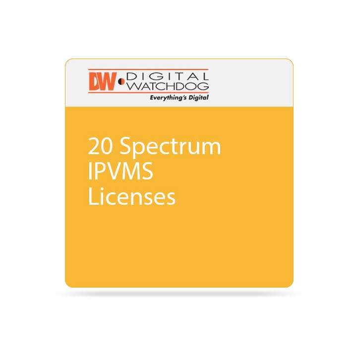 DW-SPECTRUMLSC020 DIGITAL WATCHDOG TWENTY (20) DW SPECTRUM IPVMS LICENSE NO ANNUAL RENEWAL, NO UPGRADE REQUIRED ************************* SPECIAL ORDER ITEM NO RETURNS OR SUBJECT TO RESTOCK FEE *************************