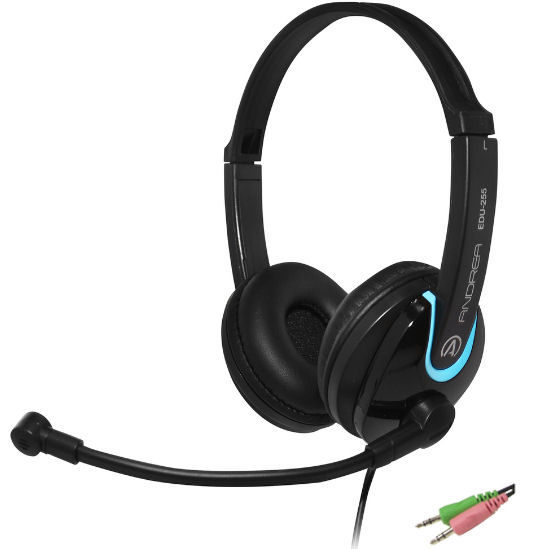 AND-C1-1030000-1 ANDREA EDU-255 ON-EAR STEREO COMPUTER HEADSET