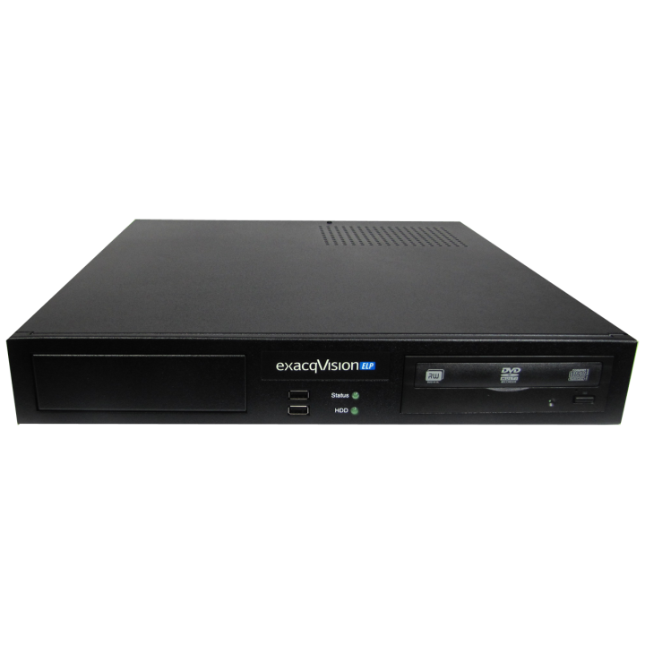 IP04-04T-ELPR EXACQ IP 1.5U recorder with 4 IP cameras licenses (24 max) and removable drives. exacqVision Professional client, server, web/mobile software pre-installed with 3 years software upgrades and hardware warranty. Linux 14.04 on SSD. HDMI, DVI-I, DisplayPort (2 max simultaneous), Dual GB NICs, 2 multiplexed monitor outputs, RS-485 serial port, 3 alarm outputs, 8 audio inputs, DVD-RW. Keyboard, mouse and rackmount included. 4TB ************************* SPECIAL ORDER ITEM NO RETURNS OR SUBJECT TO RESTOCK FEE *************************