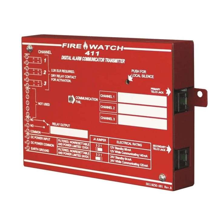 FL411 FIRE-LITE 3 CHANNEL DUAL LINE SLAVE DACT REQUIRES PRO411 PROGRAMMER