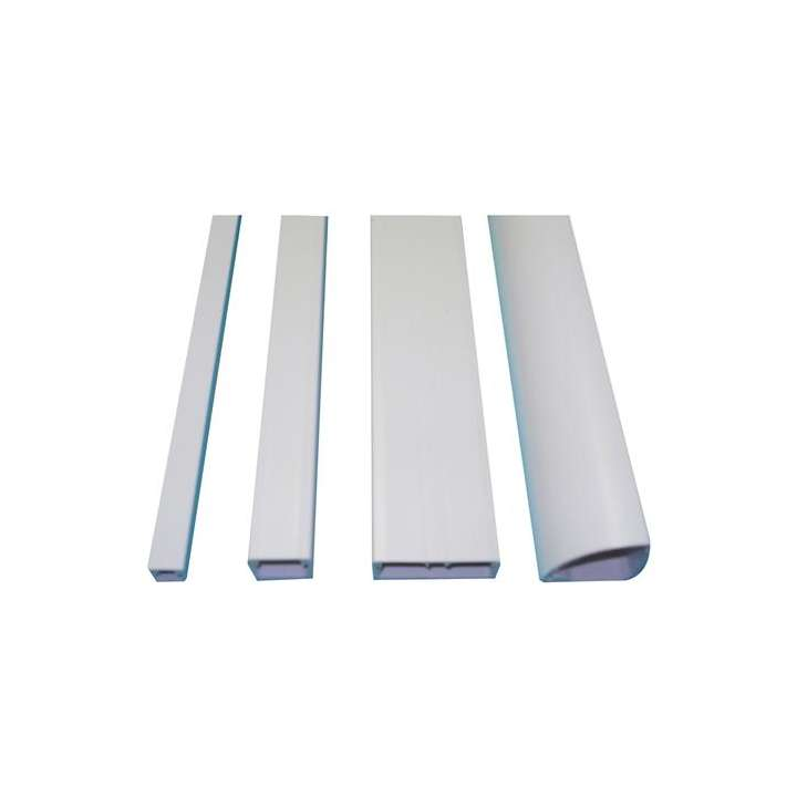 "E-Z586-W GRI 5/8"" X 1/2"" 6' E-Z DUCT RACEWAY - BAG OF 6 PIECES WHITE ************************* SPECIAL ORDER ITEM NO RETURNS OR SUBJECT TO RESTOCK FEE *************************"