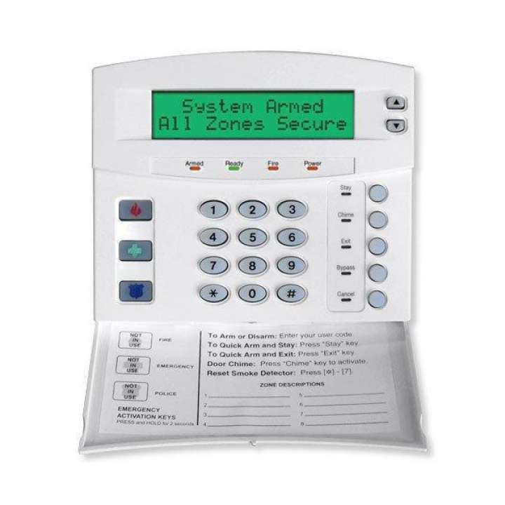 "NX-148E UTC 192-ZONE LCD KEYPAD WITH DOOR 6.2"" W X 5.3"" H X 1.3"" D. SWING-DOWN REMOVABLE DOOR CONCEALS CONTROLS, WHITE"