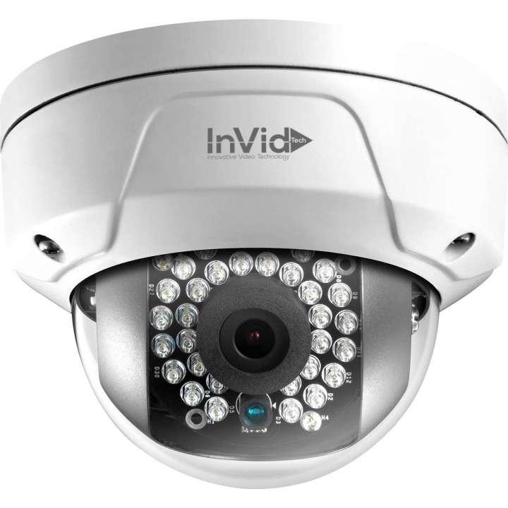 ULT-P4DRIRA28 INVID 4 Megapixel IP Plug & Play Mini Rugged Dome, 2.8mm, WDR, 100' IR Range, PoE/DC12V, SD Card Slot, Audio