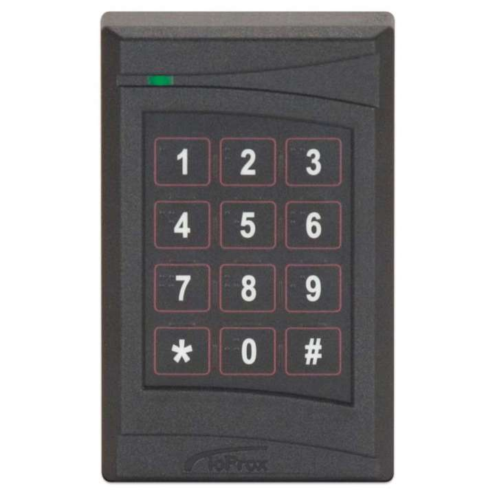 P325KPXSF KANTECH IOPROX READER, XSF, SINGLE GANG SIZE, UP TO 20.5 CM (8 IN) READ RANGE, W/ INTEGRATED KEYPAD, BLACK