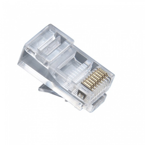 106150 PLATINUM RJ-45 (8P8C) Connector Round-Solid, 3 Prong. 500/Bag.