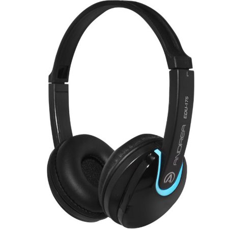 AND-C1-1030100-1 ANDREA EDU-175 ON EAR STEREO HEADPHONES RECOMMENDED FOR THE EDUCATION MARKET