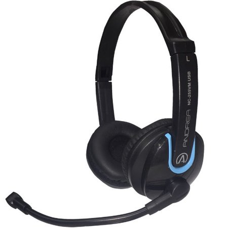 AND-C1-1031900-1 ANDREA NC-255VM USB ON-EAR USB STEREO COMPUTER HEADSET