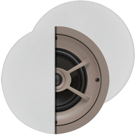 "C626 PROFICIENT 6 1/2"" CEILING SPEAKERS GRAPHITE WOOFERS 1"" PIVOTING SILK DOME TWEETERS 100W THIN BEZEL GRILLS HELD BY NEO MAGNETS - PAIR PAS11626 ************************* SPECIAL ORDER ITEM NO RETURNS OR SUBJECT TO RESTOCK FEE *************************"