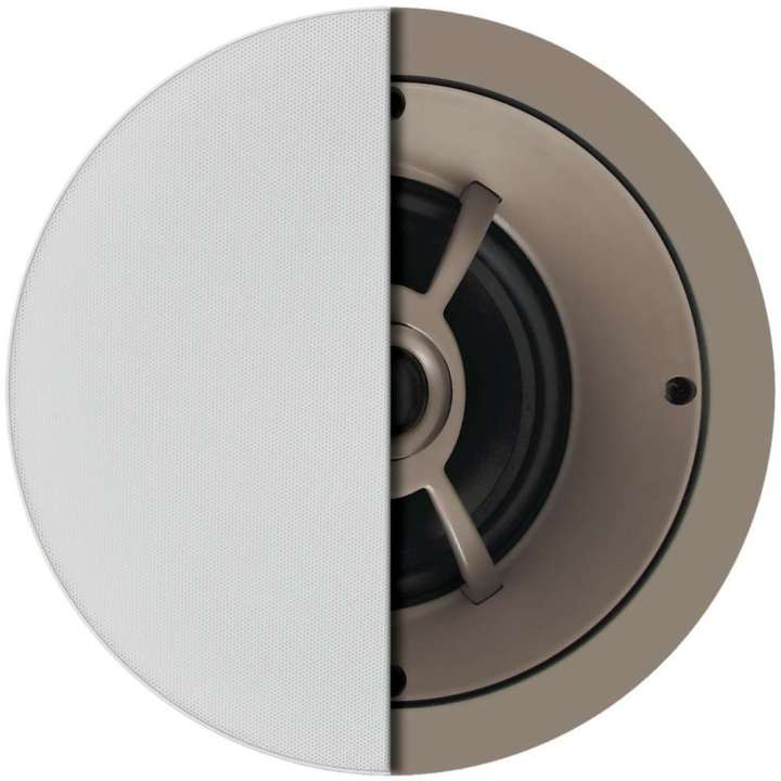 "C651 PROFICIENT 6 1/2"" CEILING LCR SPEAKER WOOFER AND TWEETER BRIDGE FIXED AT 15 DEGREE ANGLE POLYPROPYLENE WOOFER 1"" PIVOTING DOME TWEETER 100 W THIN BEXEL GRILL HELD BY NEO MAGNETS - EACH PAS13651 ************************* SPECIAL ORDER ITEM NO RETURNS OR SUBJECT TO RESTOCK FEE *************************"