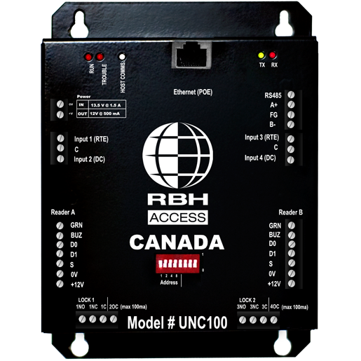 RBH-INT-UNC100-132S RBHUSA Integra UNC100 HYBRID EDGE wall mount, 2 door PoE enabled controller (includes: Integra32 64 door software, wall mount enclosure, power supply & transformer) ************************* SPECIAL ORDER ITEM NO RETURNS OR SUBJECT TO RESTOCK FEE *************************