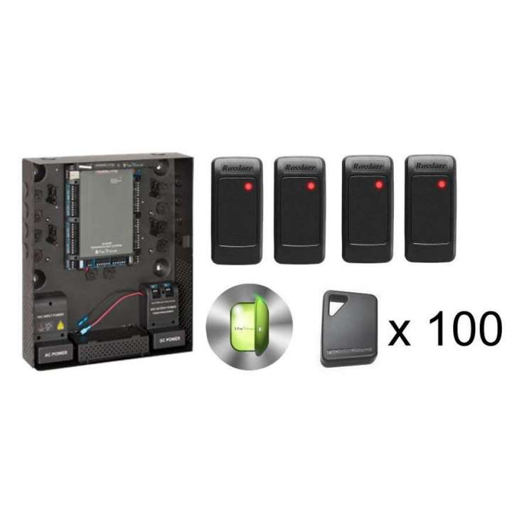 AC-K16UF ROSSLARE AC-825IP Kit with 4 AY-K12 Readers & 100 AT-ERK-26A-7TBO Key Fobs ************************** CLEARANCE ITEM- NO RETURNS *****ALL SALES FINAL****** **************************