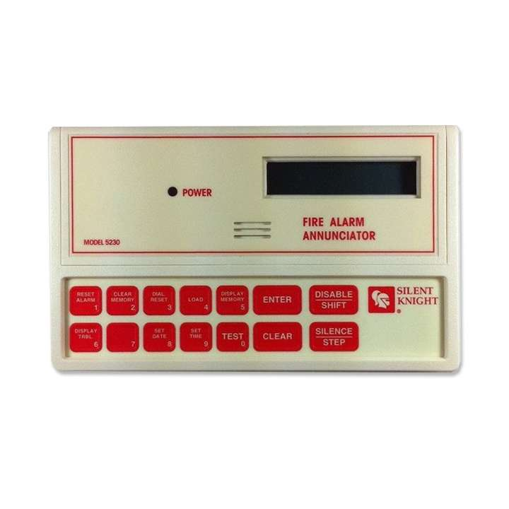 5230 SILENT KNIGHT LCD REMOTE ANNUNCIATOR/TOUCHPAD W/LCD DISPLAY FOR 5207, 5204, & 5104