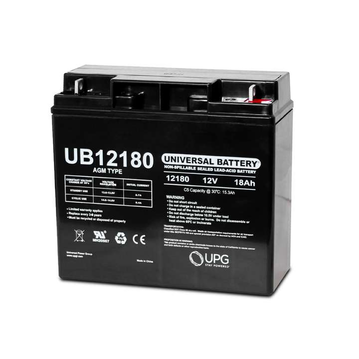 UB12180 UPG 12 Volt 18.0AH Sealed Lead Acid Battery D5745 ************************* SPECIAL ORDER ITEM NO RETURNS OR SUBJECT TO RESTOCK FEE *************************