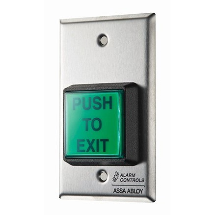 "SPN6063 ALARM CONTROLS SINGLE GANG SS PLATE, 2"" GREEN ILLUUMNATED PUSH BUTTON, 12V DPDT RELAY SH SHALLOW HOUSING ************************** CLEARANCE ITEM- NO RETURNS *****ALL SALES FINAL****** **************************"