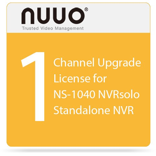 NS-SOLO-UP01 NUUO SINGLE LICENSE FOR SOLO NVR ************************** CLEARANCE ITEM- NO RETURNS *****ALL SALES FINAL****** **************************
