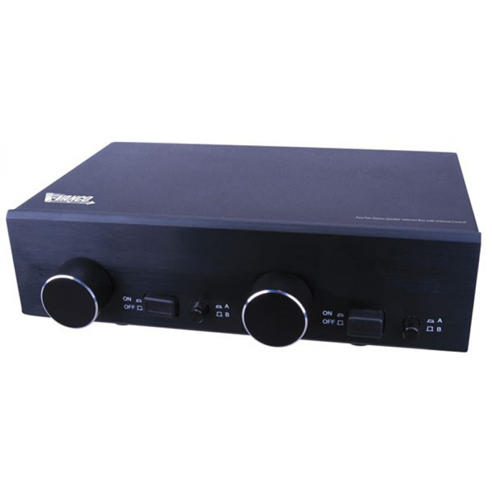 SS2V VANCO Two Pair Stereo Speaker Selector Box with Volume Control ************************* SPECIAL ORDER ITEM NO RETURNS OR SUBJECT TO RESTOCK FEE *************************
