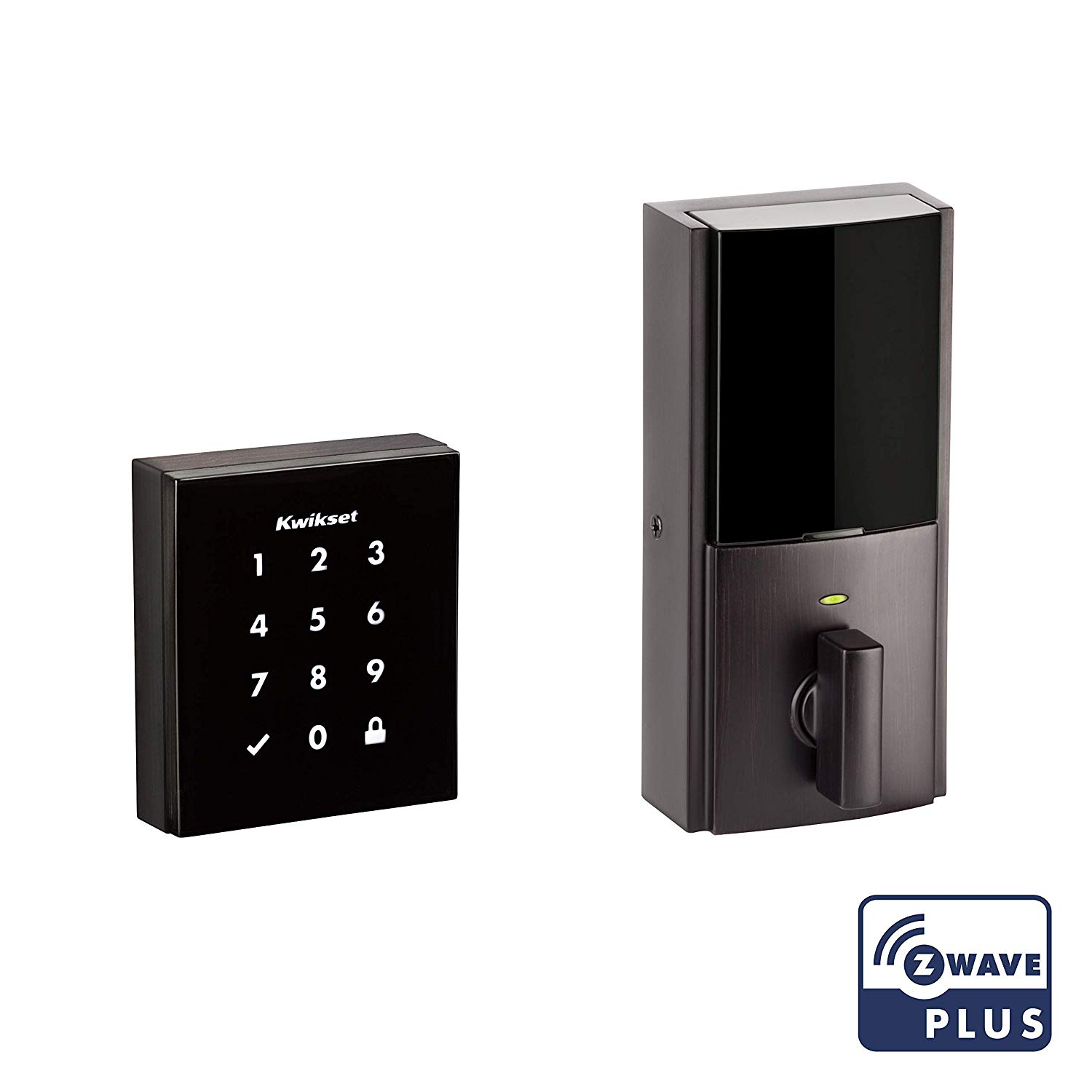 99540-002 KWIKSET Obsidian with Z-Wave-Touch-Screen Venetian Bronze