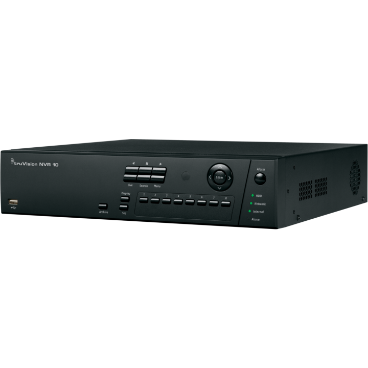 TVN-1016S-6T UTC TruVision NVR 10, 16-Channels, H.264 ONVIF/PSIA, 8 Ports built-in Switch, 40Mbps Bandwidth, 6TB Storage ************************* SPECIAL ORDER ITEM NO RETURNS OR SUBJECT TO RESTOCK FEE *************************