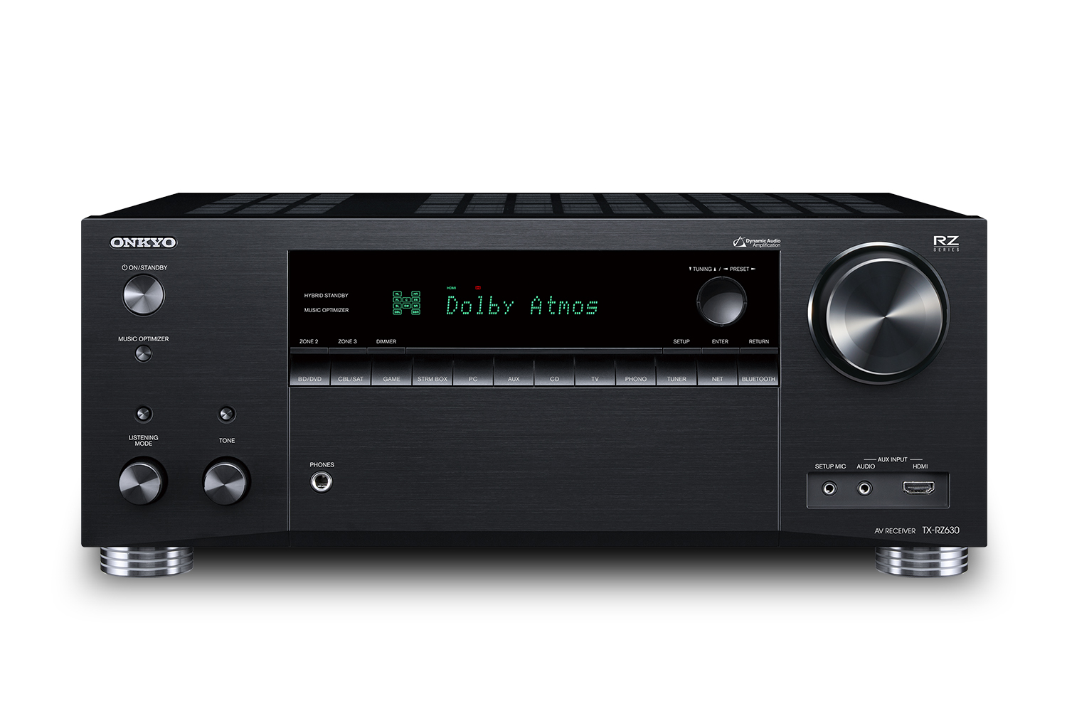 TX-RZ630 ONKYO 9.2-Channel Network A/V Receiver 90 W/Ch (8 Ohms), 215 W/Ch (6 Ohms) Native DTS:X and Dolby Atmos to 5.2.4 Channels Powered Zone 2 and Zone 3 speaker outputs Chromecast built-in, AirPlay, Wi-Fi, and Bluetooth ************************* SPECIAL ORDER ITEM NO RETURNS OR SUBJECT TO RESTOCK FEE *************************
