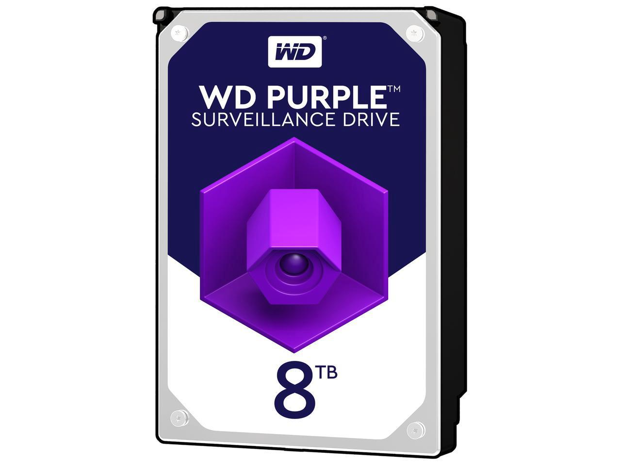 WD81PURZ WESTERN DIGITAL 8TB HARD DRIVE PURPLE USA IHDD-8TB