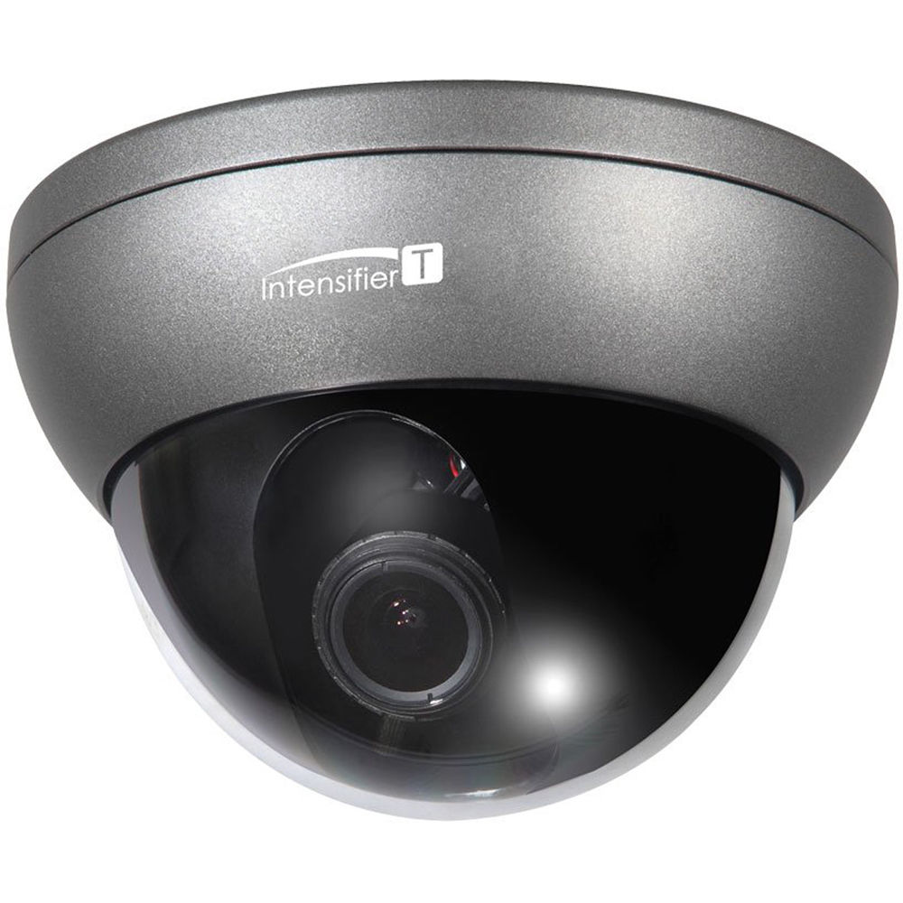 HT7250T SPECO Intensifier T HD-TVI 1080p 2MP Indoor/Outdoor Dome Camera, 5-50mm Lens, Dark Grey Housing