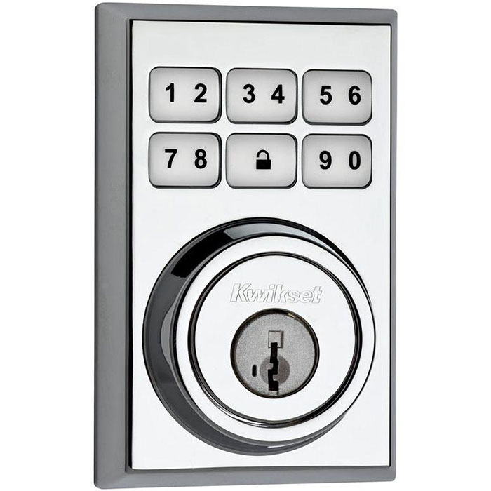 99100-082 Kwikset SmartCode Z-Wave Contemporary Deadbolt Polished Chrome ************************* SPECIAL ORDER ITEM NO RETURNS OR SUBJECT TO RESTOCK FEE *************************