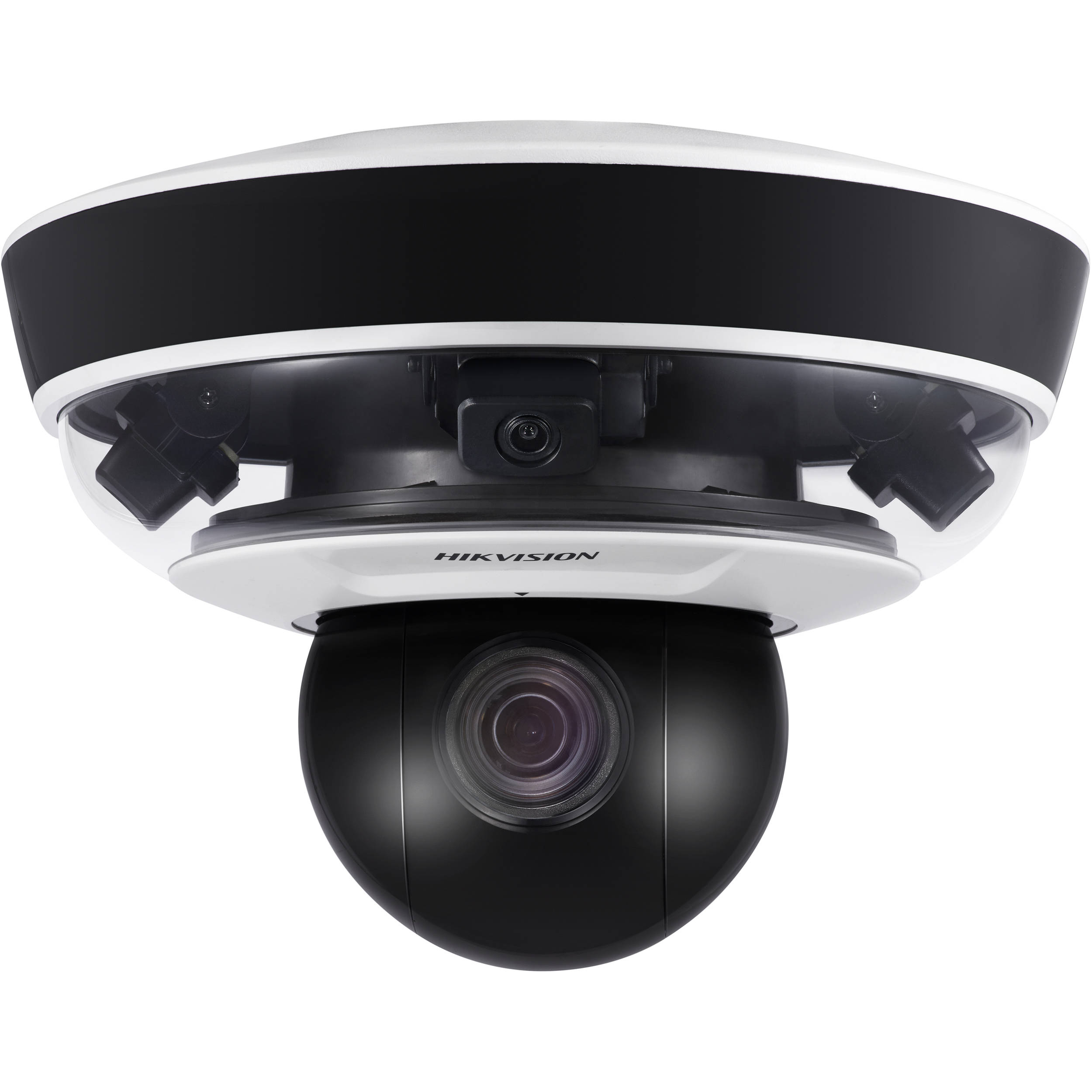 DS-2PT5326IZ-DE HIKVISION 8MP (4x 2MP), 5-50mm, 4mm, 30fps, 240 degrees, PanoVu Mini, Panoramic + PTZ, H.265, Day/Night, DWDR, Outdoor, MicroSD, Audio, PoE+, IP66, TVS 2000V