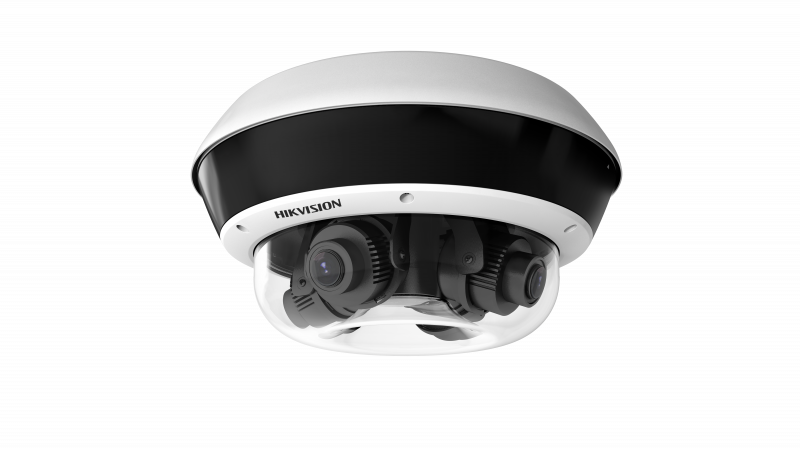 DS-2CD6D54FWD-Z HIKVISION 20MP (4 x 5MP), 25 FPS, 2.8-12mm Motorized Lens, Adjustable Camera Position, True WDR, H.265, VCA, 2 Alarm Inputs, 2 Alarm Outputs, MicroSD Slot, 12VDC, 24VAC, IEEE802.3at PoE, IP67, IK10