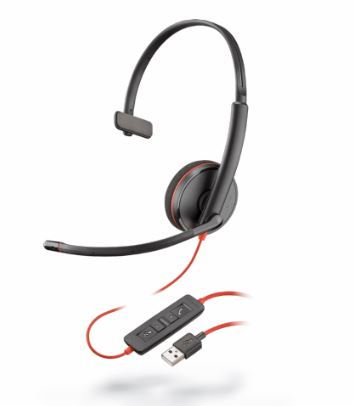 PLN-209744-101 PLANTRONICS C3210 BLACKWIRE CORDED UC HEADSET