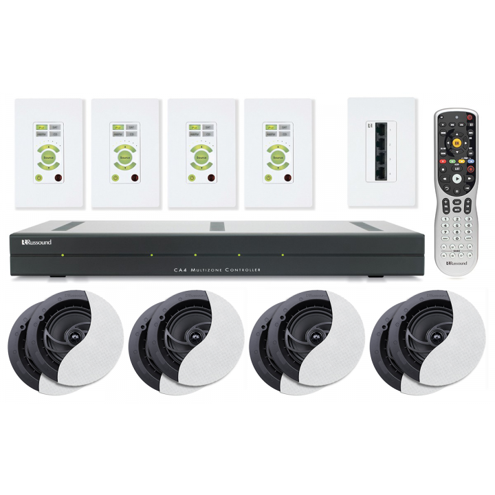 PROMORUSSOUNDCA4KT1 Buy one CA4-KT1 4 source/4 Zone Kit and get (4) pairs of RSF-610 speakers for free Promo Offer Valid January 1 - February 28, 2018