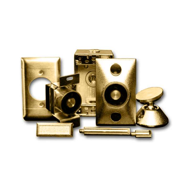 DHS-1224B UTC SURFACE MOUNT DOOR HOLDER, BRASS, 12 OR 24VDC/AC ************************* SPECIAL ORDER ITEM NO RETURNS OR SUBJECT TO RESTOCK FEE *************************