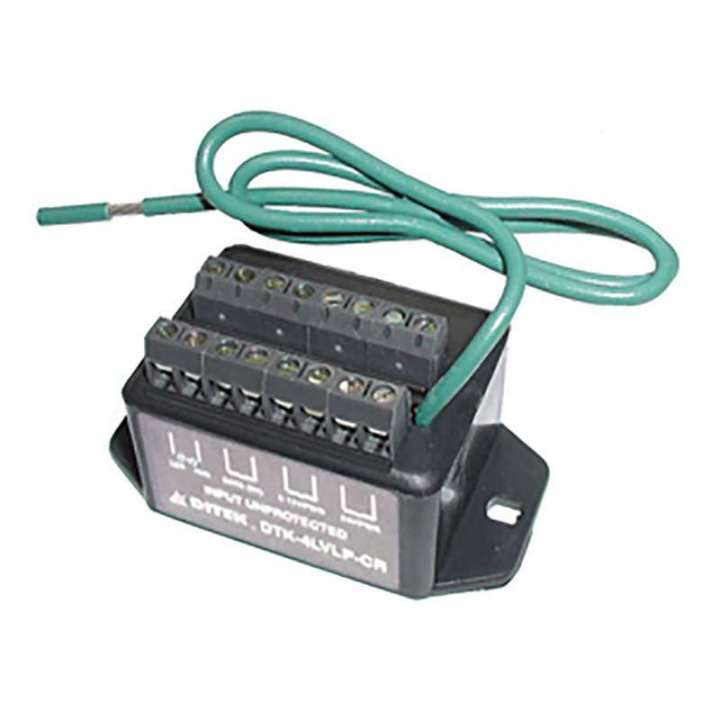 DTK-4LVLPCR DITEK 4 PAIR CARD READER PROTECTION- 1 PAIR EACH 12V POWER, 24V POWER, 5V DATA, 1V SIGNAL ************************* SPECIAL ORDER ITEM NO RETURNS OR SUBJECT TO RESTOCK FEE *************************