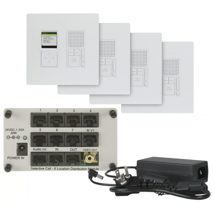 IC-7400-WH ON-Q RADIANT SELECTIVE CALL 4 ROOM INTERCOM KIT ************************* SPECIAL ORDER ITEM NO RETURNS OR SUBJECT TO RESTOCK FEE *************************