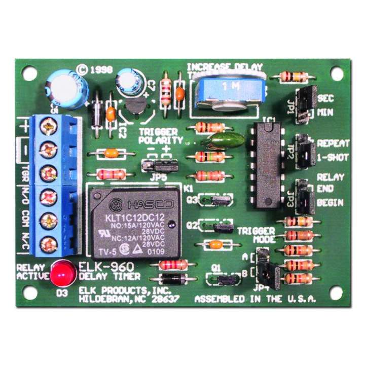 ELK960 ELK DELAY TIMER 12/24V 1 SECOND TO 60 MINUTES ************************* SPECIAL ORDER ITEM NO RETURNS OR SUBJECT TO RESTOCK FEE *************************