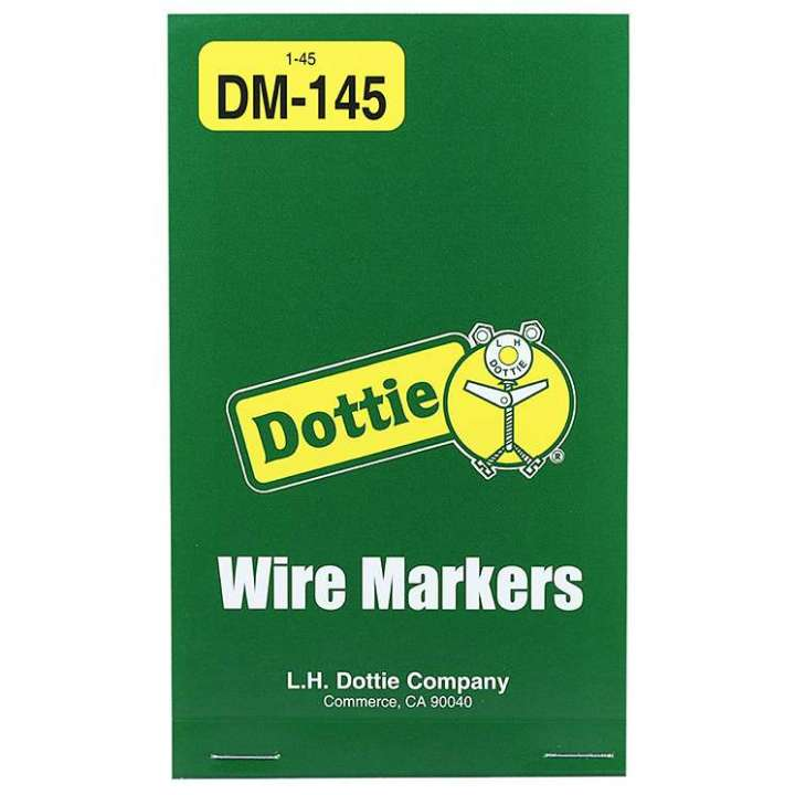 DM145 LHDOT WIRE MARKER BOOKS - VINYL CLOTH 1 - 45 ************************* SPECIAL ORDER ITEM NO RETURNS OR SUBJECT TO RESTOCK FEE *************************
