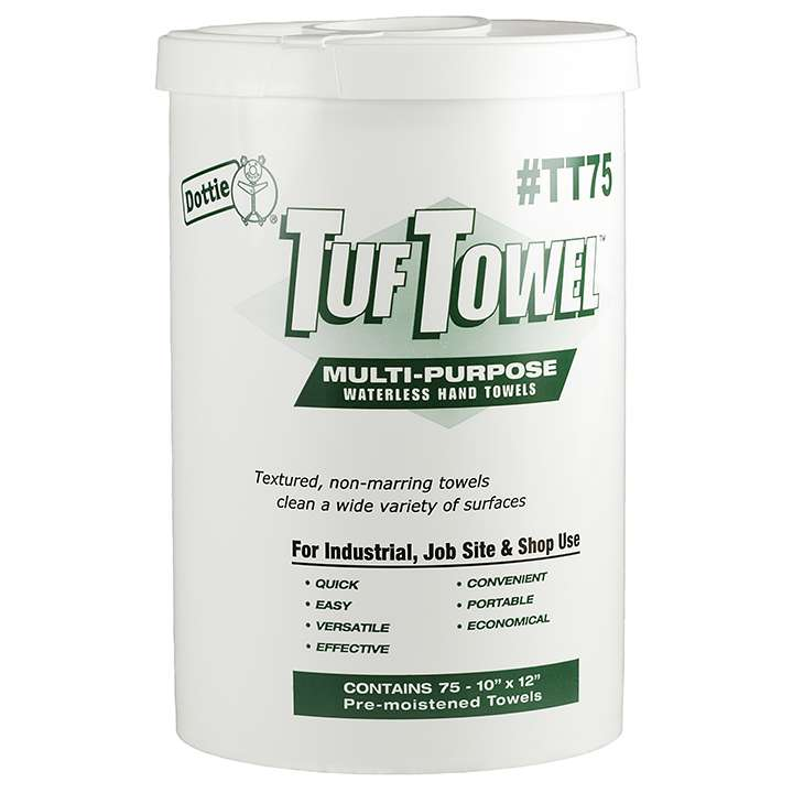 TT75 LHDOT 75 COUNT TUF TOWELS PRE MOISTENED MULTI-PURPOSE ************************* SPECIAL ORDER ITEM NO RETURNS OR SUBJECT TO RESTOCK FEE *************************