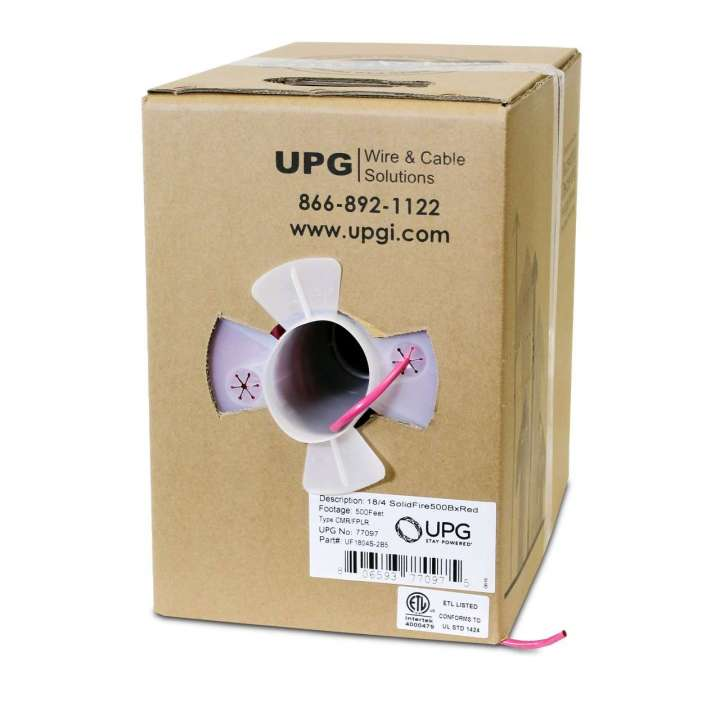 UF1804S-2B5 UPG 18/4 FIRE FPLR 500FT RED BOX