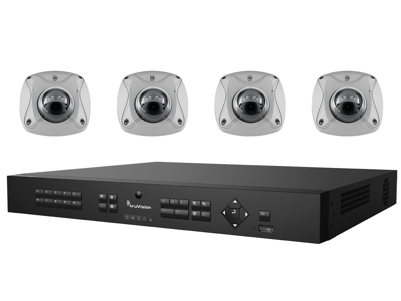 TVN-1108-KW4 INTERLOGIX 8-Channel NVR w/4 4MPx (2.8mm) IR Wedge Cameras Video Kit ************************* SPECIAL ORDER ITEM NO RETURNS OR SUBJECT TO RESTOCK FEE *************************