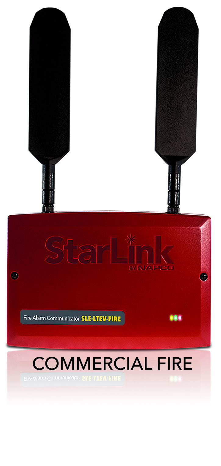 SLE-LTEVI-FIRE NAPCO DUAL PATH LTEVI COM RED PLASTIC