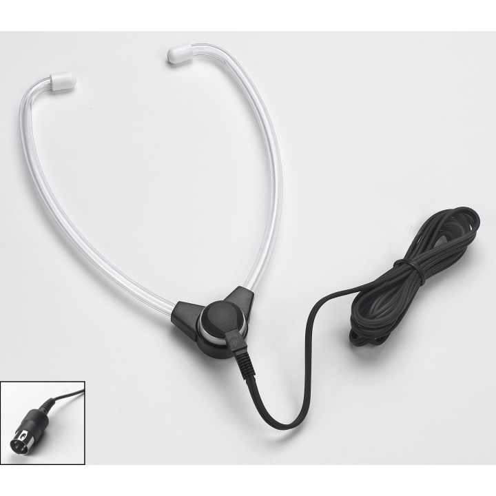 VEC-SH-50N VEC HINGED STETHO HEADSET W/ WHITE PLASTIC EAR TIPS COMPATIBLE W/ ALL NORELCO/PHILIPS MODELS USING A ROUND DIN PLUG