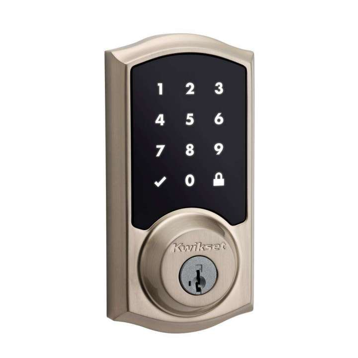 99160-020 KWIKSET SmartCode Z-Wave 916 Touchscreen Deadbolt Satin Nickel