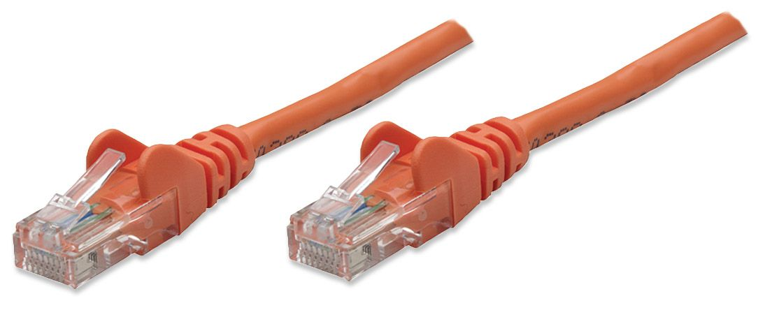 338301 INTELLINET 14 ft., Orange, Cat5e with Snagless Boot