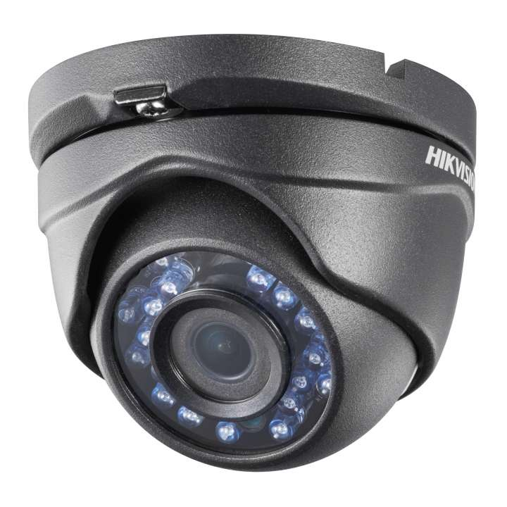 DS-2CE56D1T-IRMB2.8MM HIKVISION Outdoor IR Turret, HD1080p, 2.8mm, 20m IR, Day/Night, BLC, Smart IR, IP66, 12 VDC, Black Finish