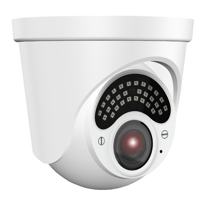 ELEV-C5TXIRA27135 InVid 5 MP, 2.7-13.5mm A/F Motorized, Outdoor Turret, 98 IR Range, D-WDR, up to -40, 12VDC, White Housing
