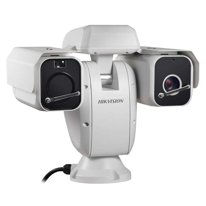 DS-2TD6135-50B2L Hikvision Outdoor dual sensor thermal network camera 384x288 50mm thermal 2MP Day/Night Darkfighter 32x optical 500m IR PTZ Suite Analytics Temperature exception alarm Advanced fire detection audio in/out IP66 24VAC 120W